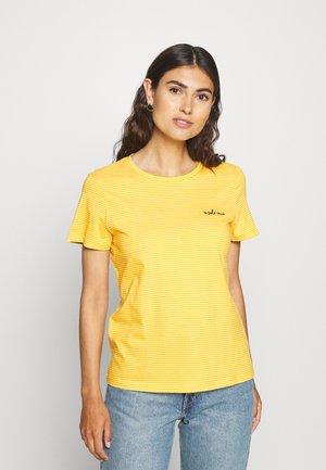 BASIC CREW NECK - Printtipaita - yellow