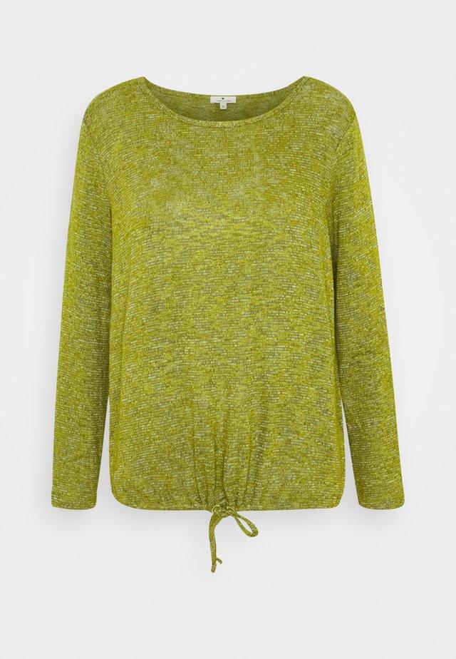 LOOSE - Sweter - wood green melange