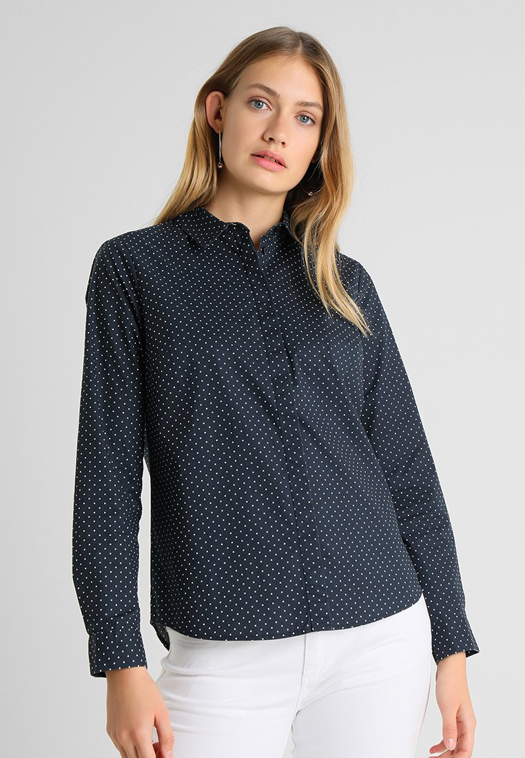 TOM TAILOR - CASUAL DOT BLOUSE - Skjortebluser - navy
