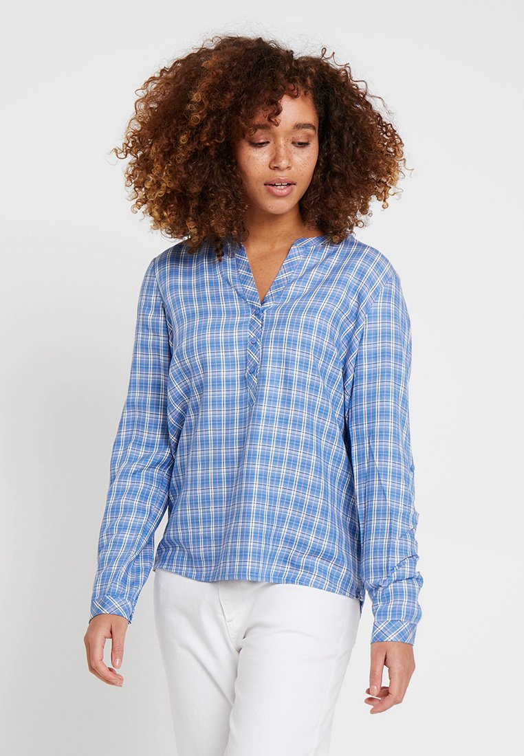 TOM TAILOR - CASUAL CHECK BLOUSE - Blouse - blue