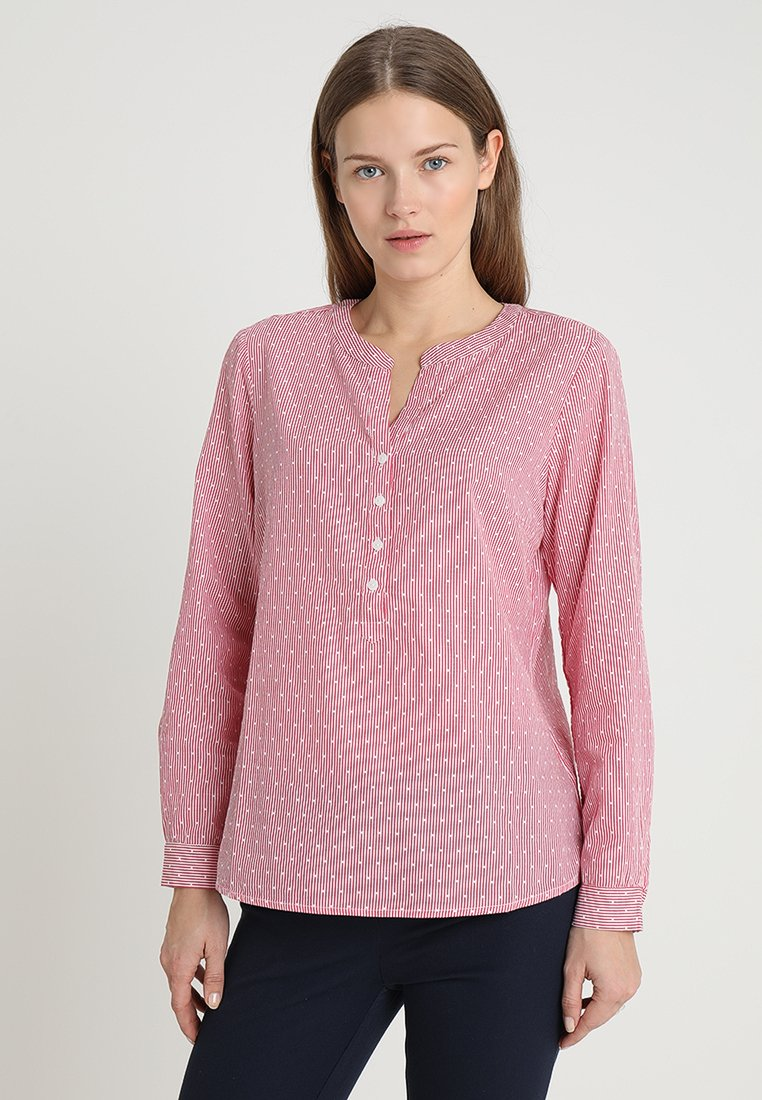 TOM TAILOR - STRUCTURED BLOUSE - Bluse - red dobby