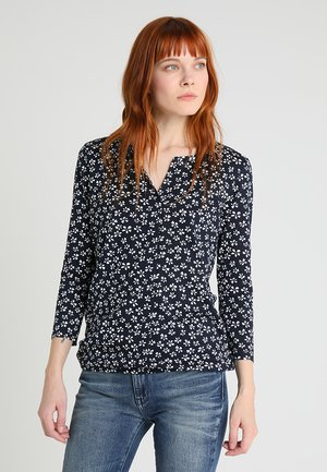 DRAPED OPEN  - Long sleeved top - navy