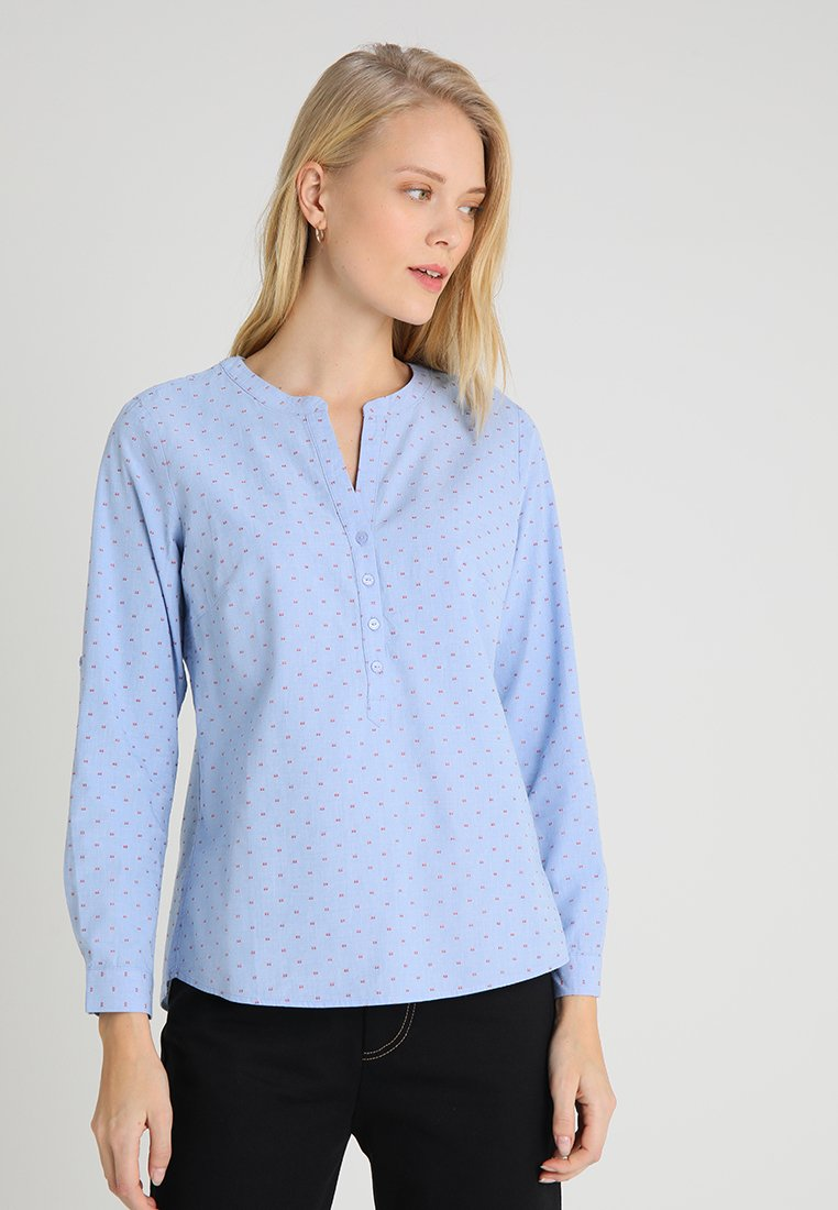TOM TAILOR - STRUCTURED BLOUSE - Blouse - blue
