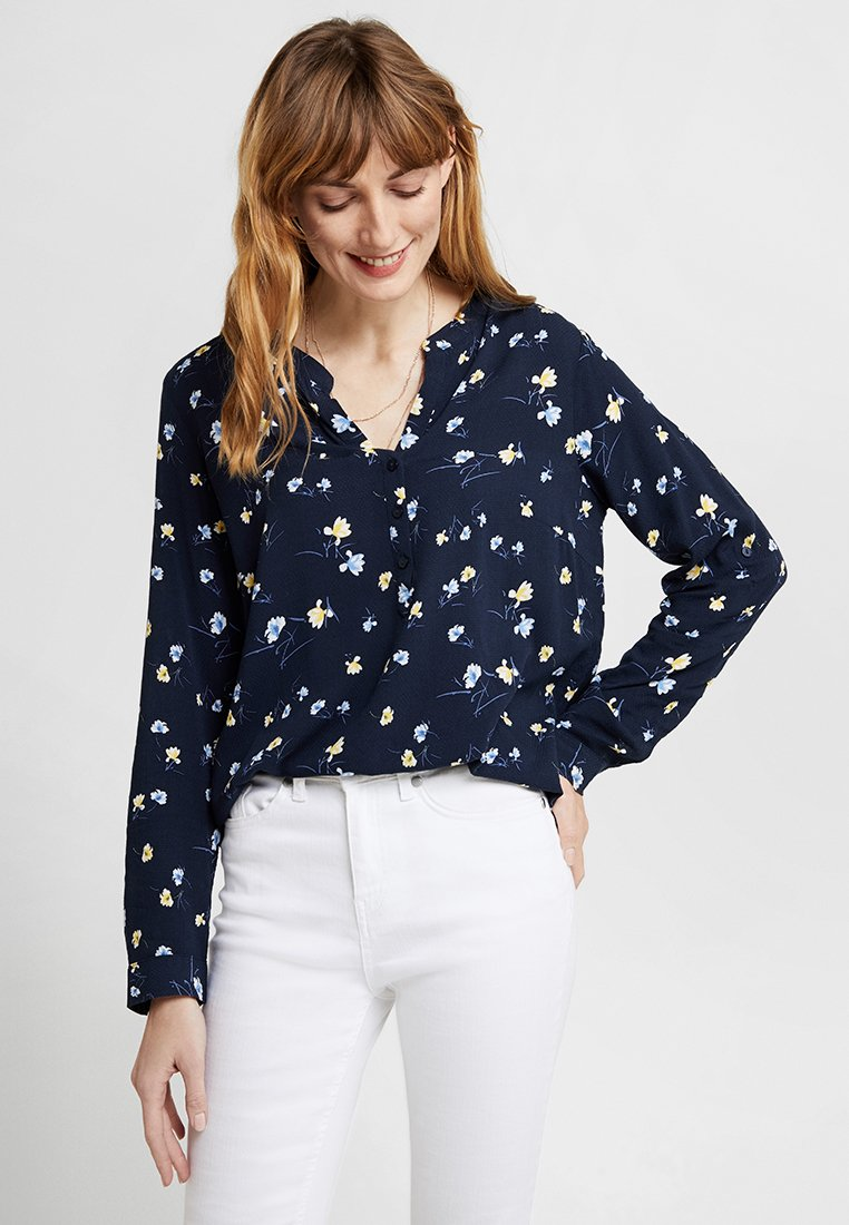 TOM TAILOR - PRINTED BLOUSE - Bluse - navy