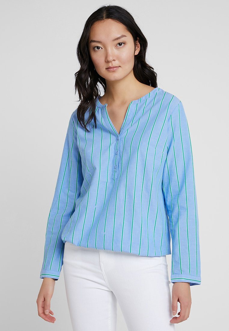 TOM TAILOR - WITH ELASTIC WAIST - Bluse - blue/green