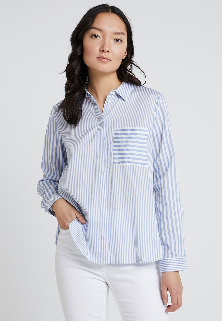 TOM TAILOR - STRIPE MIX - Hemdbluse - blue/offwhite