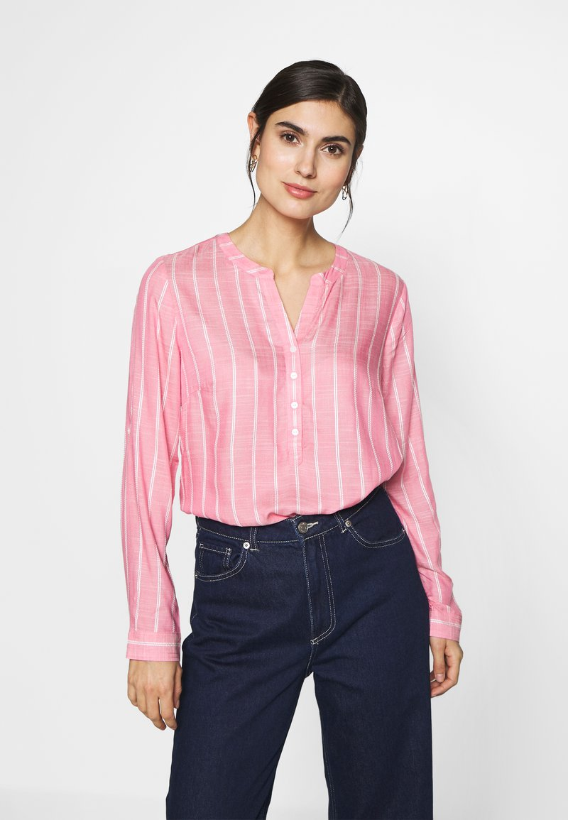 TOM TAILOR - STRUCTURED BLOUSE - Bluzka - pink