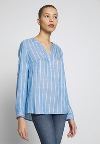 TOM TAILOR - STRUCTURED BLOUSE - Blouse - blue - 0