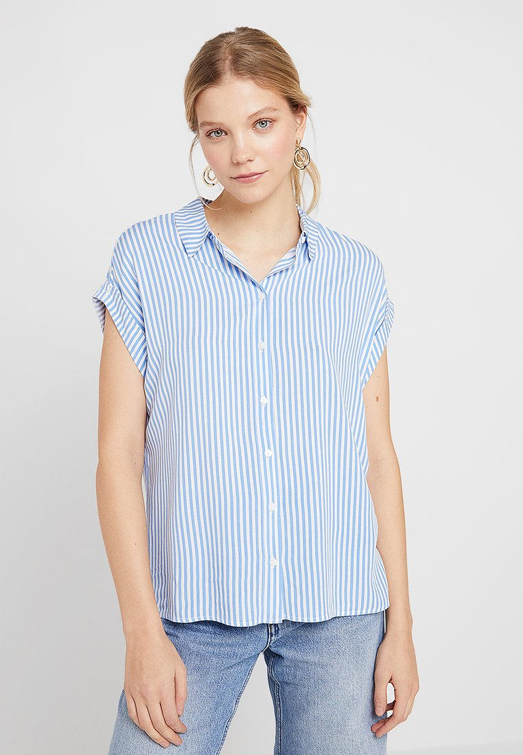 TOM TAILOR - SHORT SLEEVE - Hemdbluse - blue