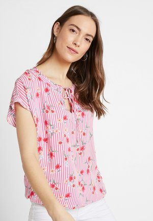 TIE BLOUSE WITH ELASTIC WAIST - Blůza - pink/red