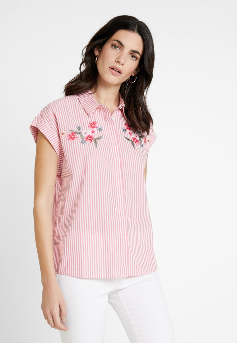 TOM TAILOR - BLOUSE WITH EMBROIDERY - Hemdbluse - red
