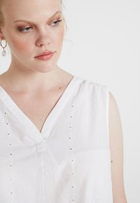 MY TRUE ME TOM TAILOR - BLOUSE WITH EMBROIDERY - Bluser - white - 4
