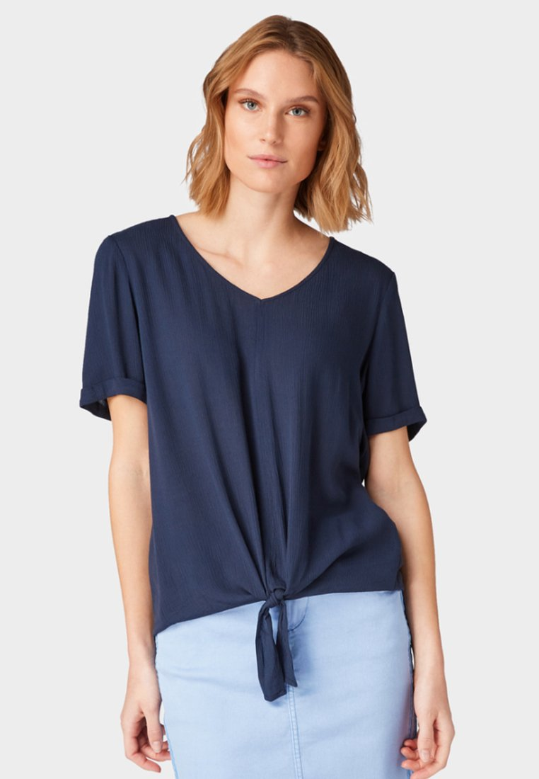 TOM TAILOR - Blouse - dark blue