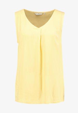 SLEEVELESS BLOUSE WITH V NECK - Pusero - daylily yellow