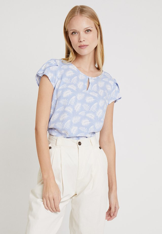BLOUSE WITH PETAL SLEEVE - Bluse - blue