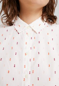 TOM TAILOR - BLOUSE WITH COLOURFUL DOBBY - Button-down blouse - white - 5