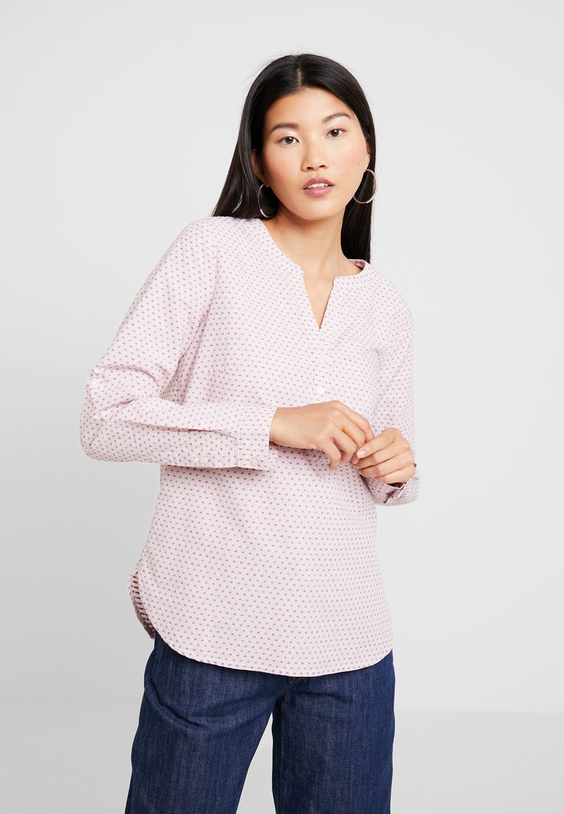 TOM TAILOR - BLOUSE DOBBY - Bluse - rose/white