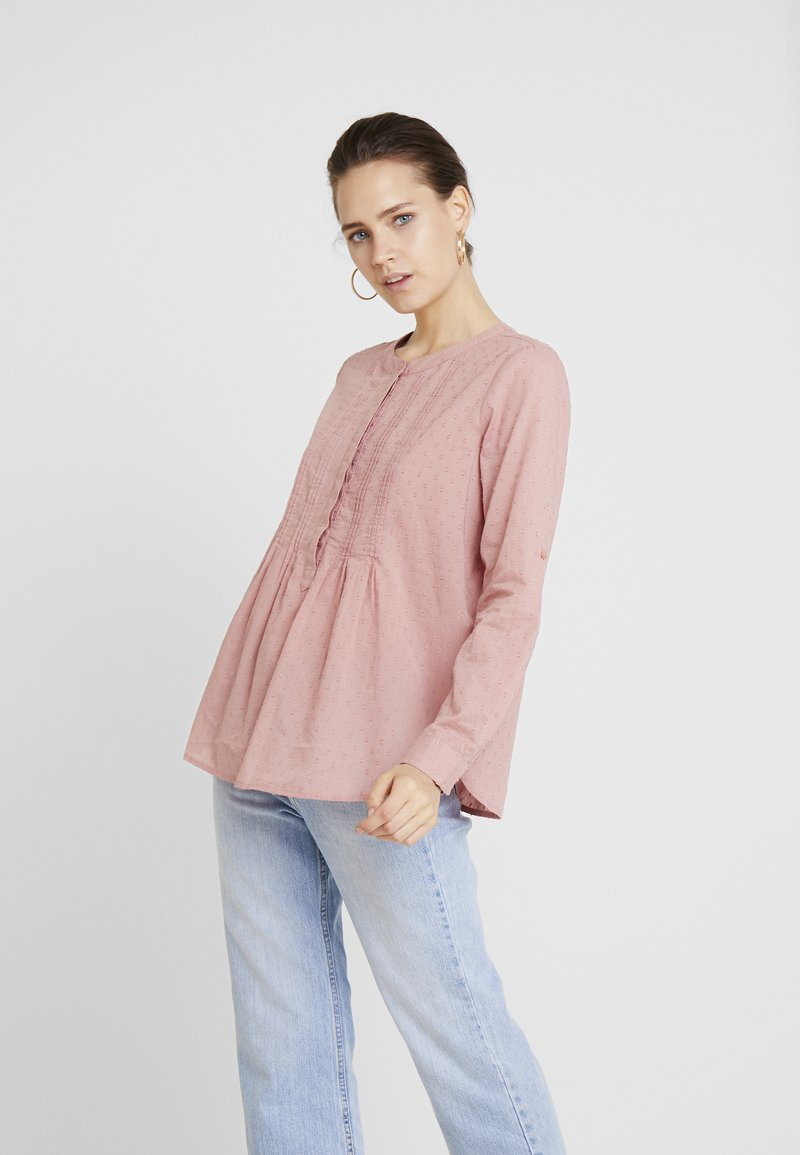 TOM TAILOR - BLOUSE WITH PINTUCKS - Bluse - vintage rose