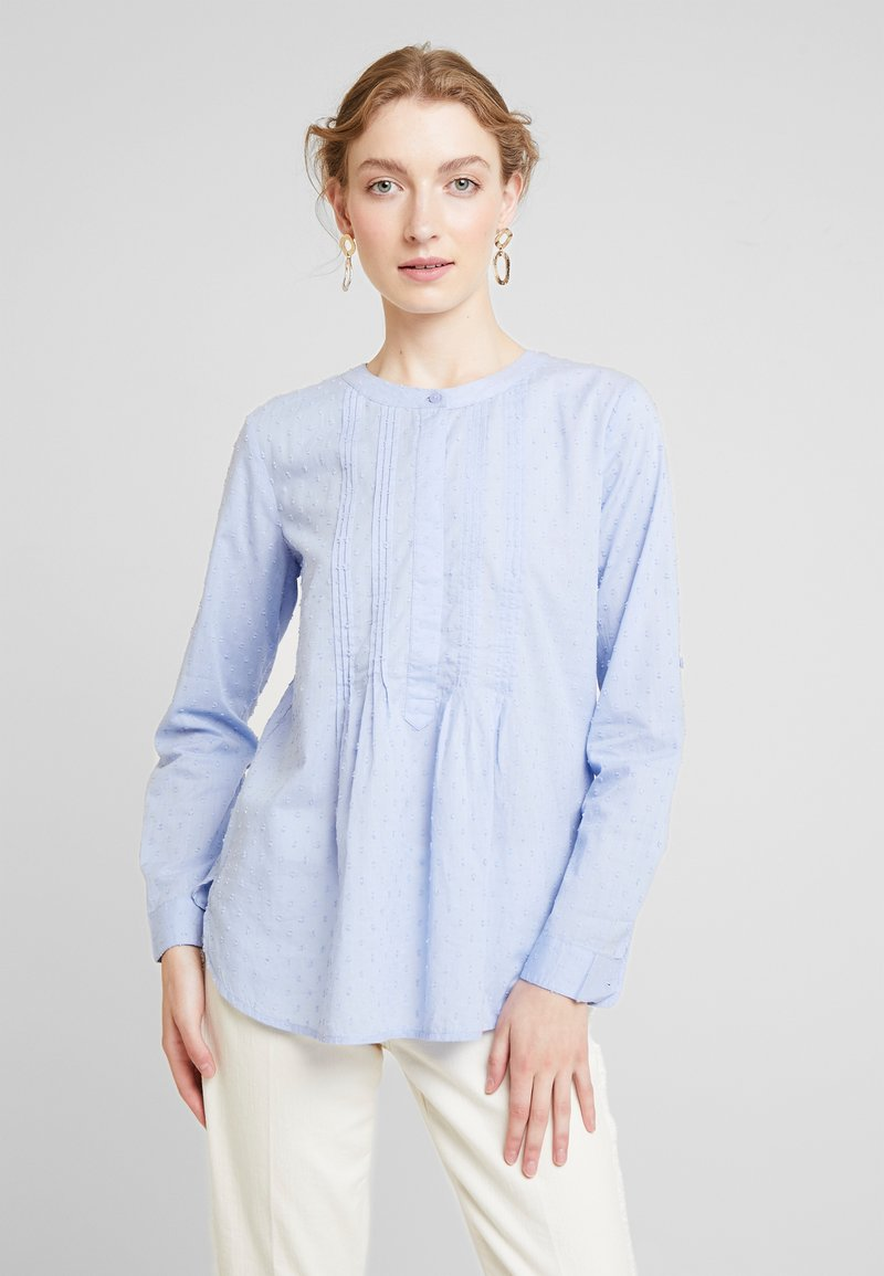 TOM TAILOR - BLOUSE WITH PINTUCKS - Bluse - parisienne blue