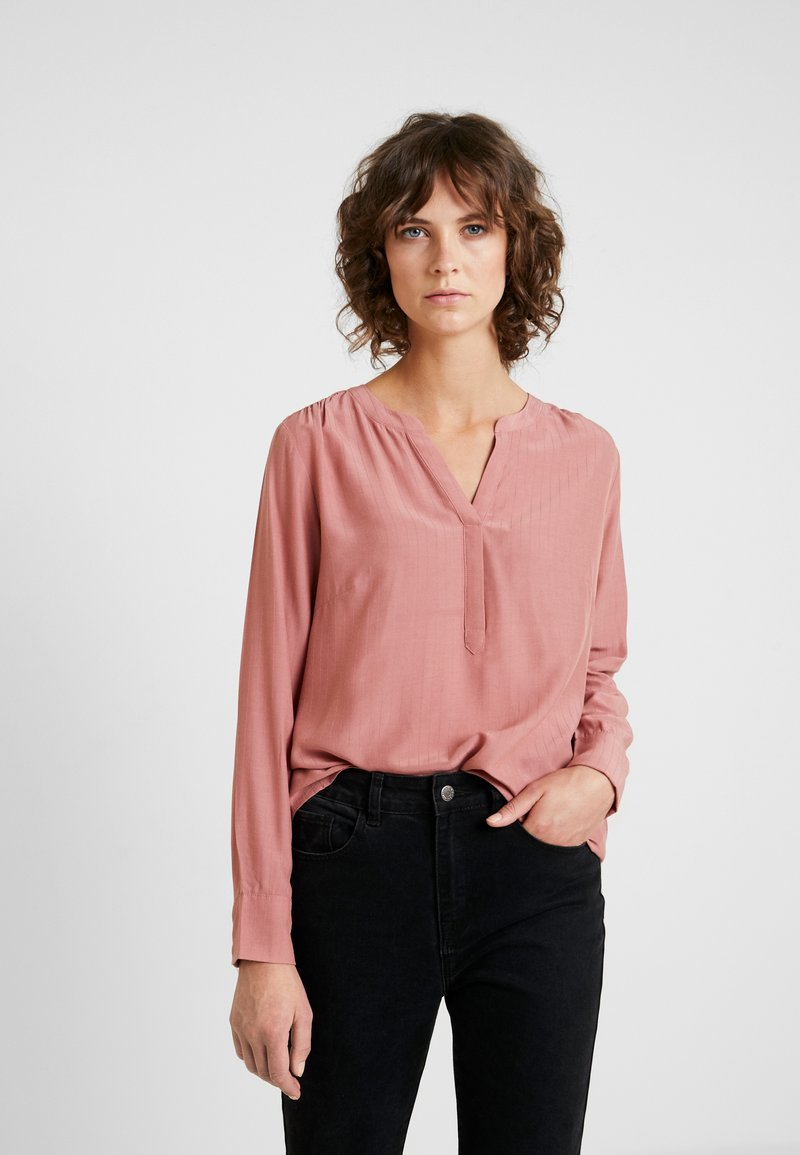 TOM TAILOR - BLOUSE STRUCTURED - Camicetta - vintage rose