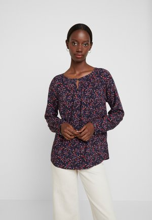 BLOUSE WITH STRUCTURE - Blouse - navy blue