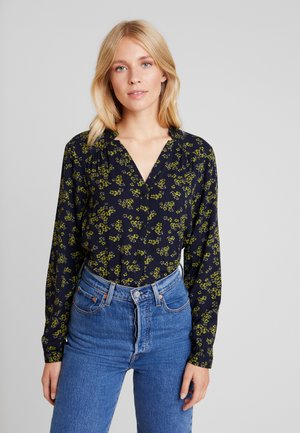 BLOUSE PRINTED - Bluse - navy green/blue