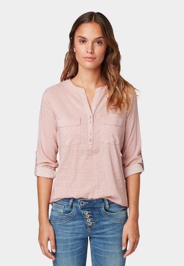 MIT BRUSTTASCHEN - Blouse - light pink