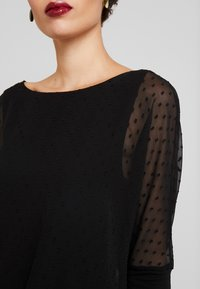 TOM TAILOR - BLOUSE WITH DOUBLE LAYER - Blůza - deep black - 5
