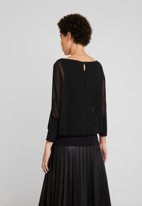 TOM TAILOR - BLOUSE WITH DOUBLE LAYER - Blůza - deep black - 2