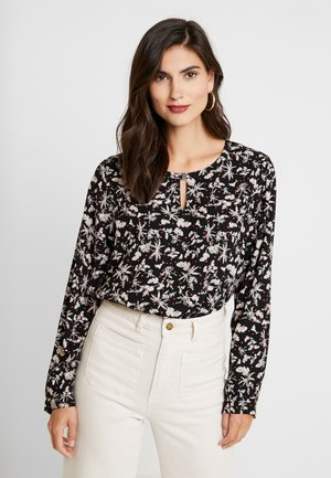 BLOUSE PRINTED - Bluzka - black