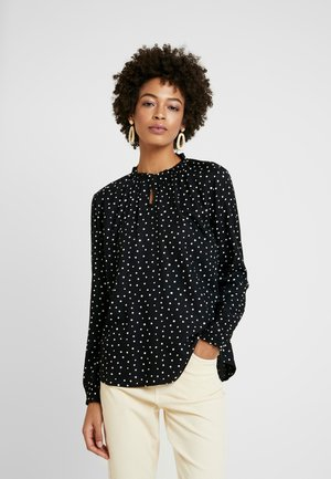 BLOUSE WITH TIED NECK - Pusero - black