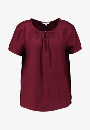 BLOUSE WITH NECK - Blouse - deep burgundy red