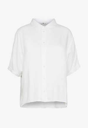 BLOUSESOLID LOOSE SHAPE - Camisa - whisper white