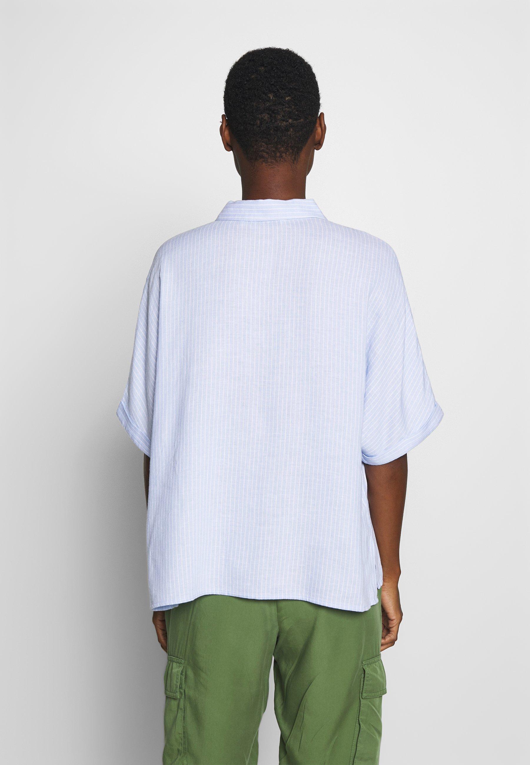 TOM TAILOR Button-down blouse - blue npniR
