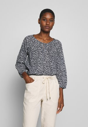 BLOUSE CARMEN SHAPE PRINTED - Bluzka - navy blue