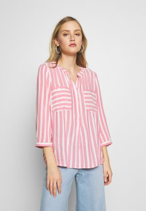 BLOUSE STRIPED - Blouse - pink/white