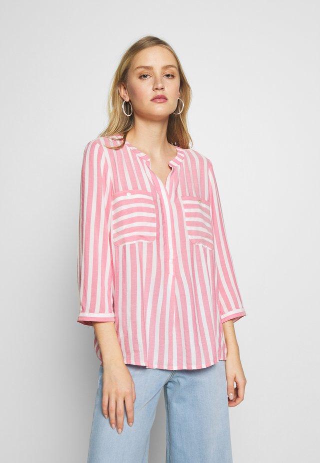 BLOUSE STRIPED - Bluzka - pink/white