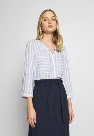 BLOUSE STRIPED - Blouse - blue/white