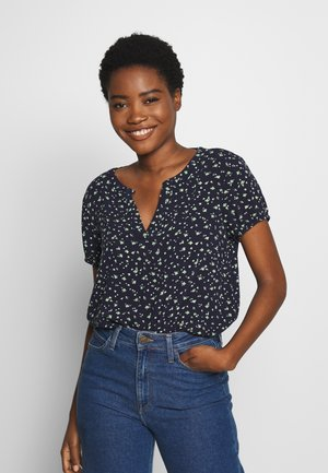 BLOUSE PRINTED - Bluser - navy/green
