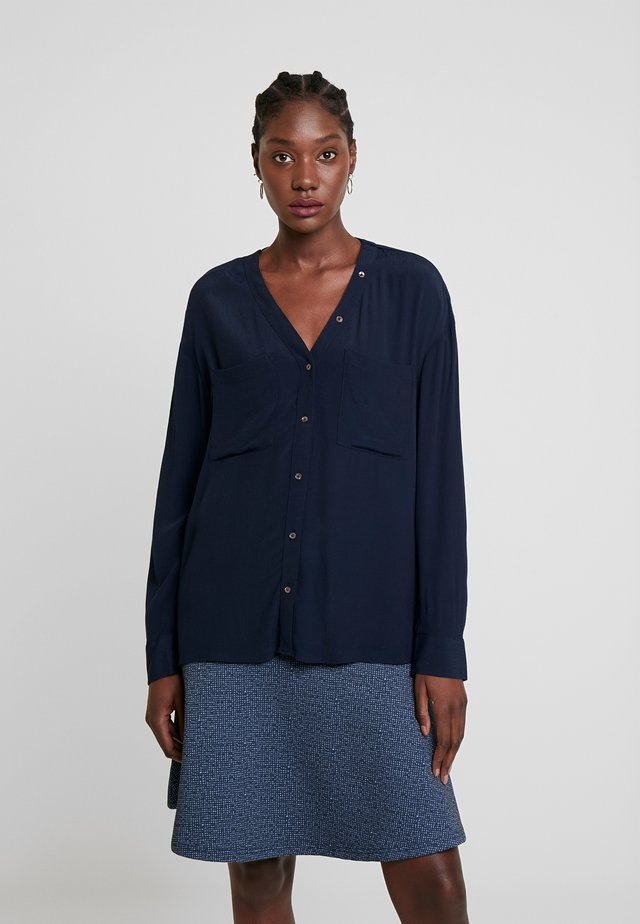 BLOUSE WITH BUTTON DETAILING - Blouse - sky captain blue