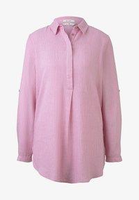 pink white thin stripe