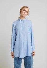 TOM TAILOR - BLOUSE LONGSTYLE - Skjorte - blue - 0