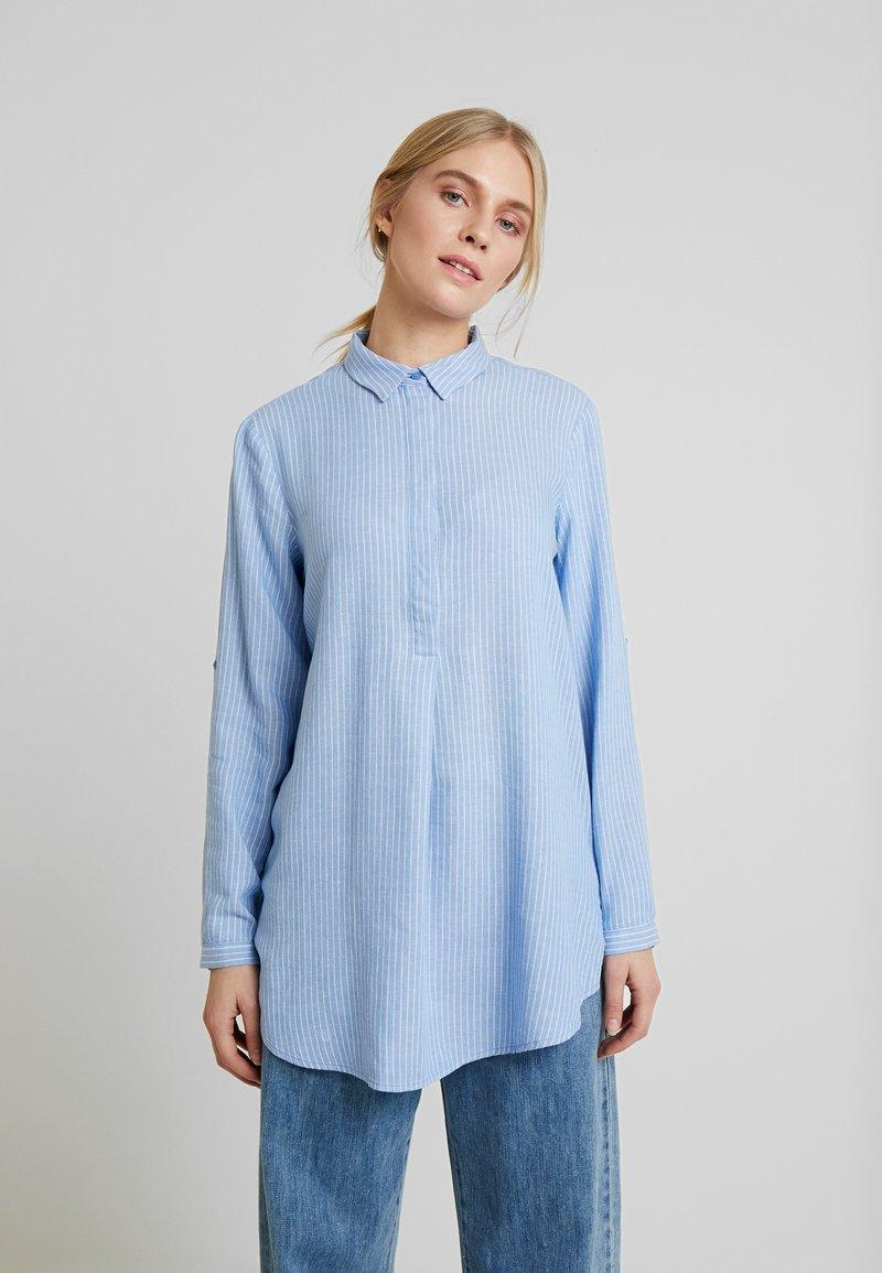 TOM TAILOR - BLOUSE LONGSTYLE - Skjorte - blue