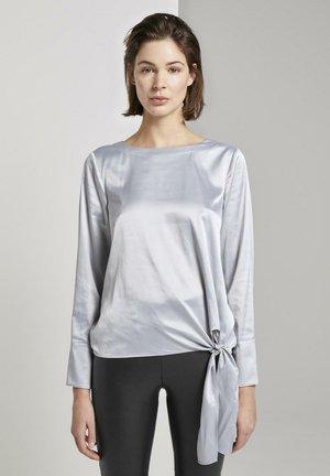 Blouse - silver grey