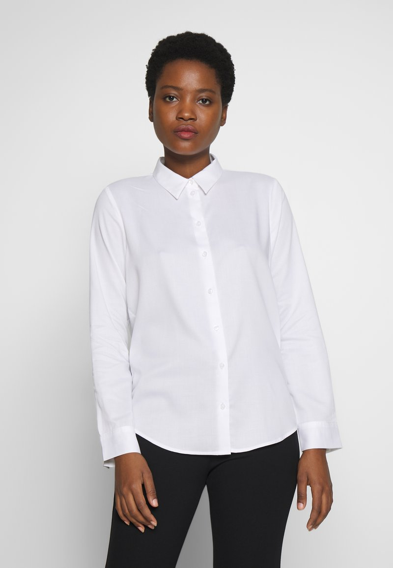 mine to five TOM TAILOR - BLOUSE - Button-down blouse - white