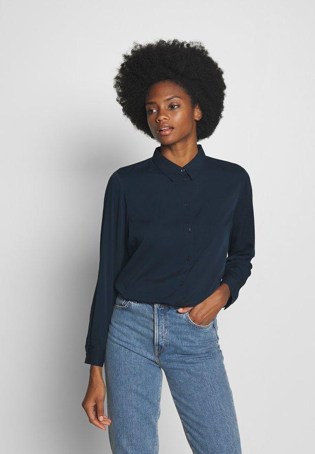 BLOUSE - Button-down blouse - sky captain blue