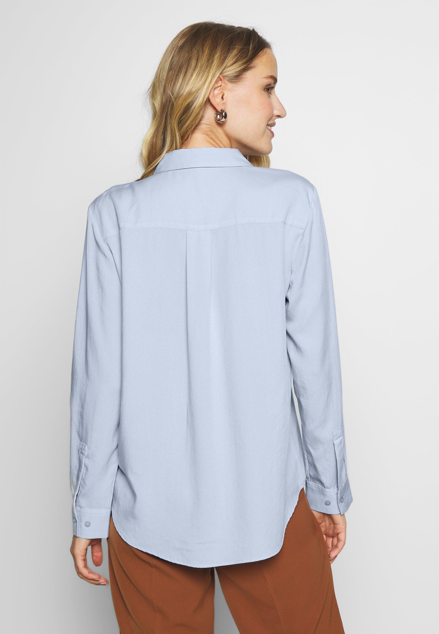 mine to five TOM TAILOR BLOUSE - Button-down blouse - soft charming blue 0KIAk