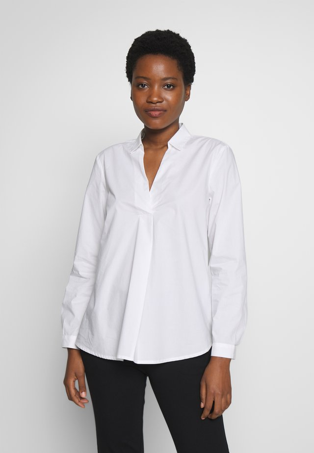OFFICE TUNIC BLOUSE - Bluse - white