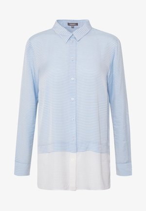 DOUBLELAYER STRIPE - Button-down blouse - soft charming blue