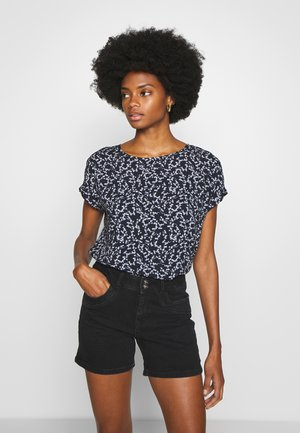 BLOUSE PRINTED - Bluzka - navy